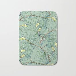 Pattern of pine branches and needles Bath Mat