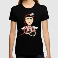 Frida  Black X-LARGE Womens Fitted Tee