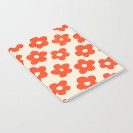 Retro 60s 70s Flower Pattern #pattern #vintage #poppy Notebook