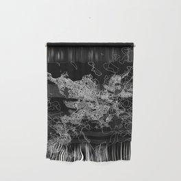 Reykjavik Black Map Wall Hanging