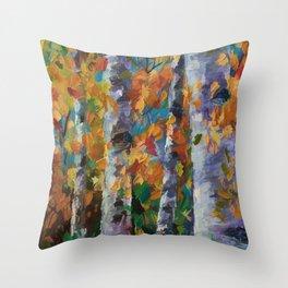 Birch trees - 1 Throw Pillow