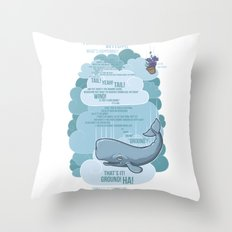 Petunia & Whale Throw Pillow