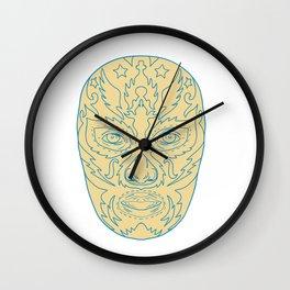Luchador Lucha Libre Mask Wall Clock