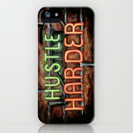 Hustle Harder iPhone Case