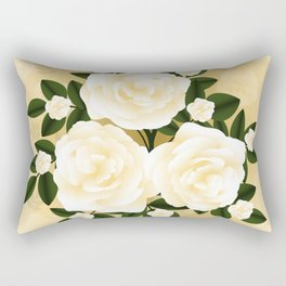 Abstract roses background Rectangular Pillow