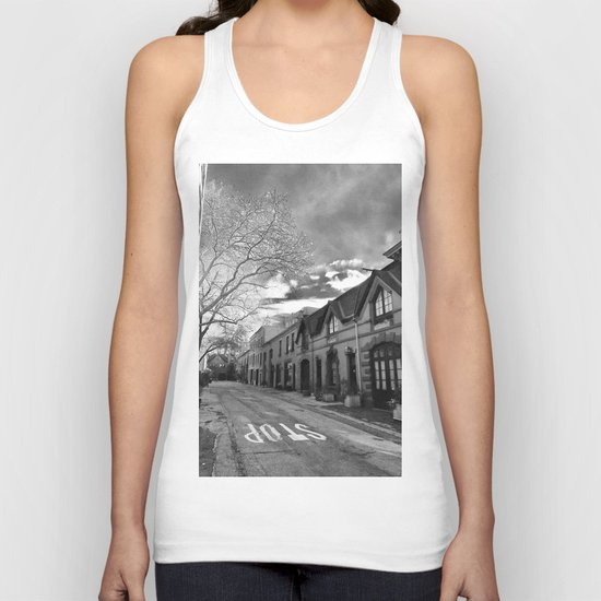 STOP For Brooklyn Heights Brownstone Love NYC Unisex Tank Top