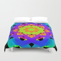 you are my sunshine Duvet Covers featuring You Are My Sunshine by Sara Valor