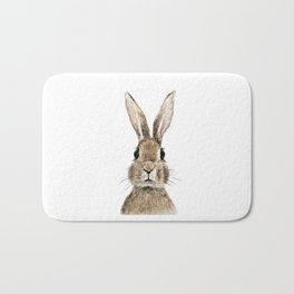 cute innocent rabbit Bath Mat