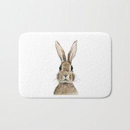 cute innocent rabbit Bath Mat
