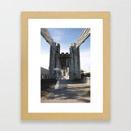 Ghost bridge Framed Art Print
