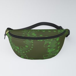 Abstract swamp pattern of gears. Fanny Pack