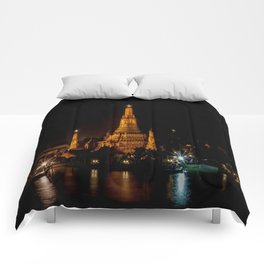 Wat Arun at Night, Bangkok, Thailand Comforters
