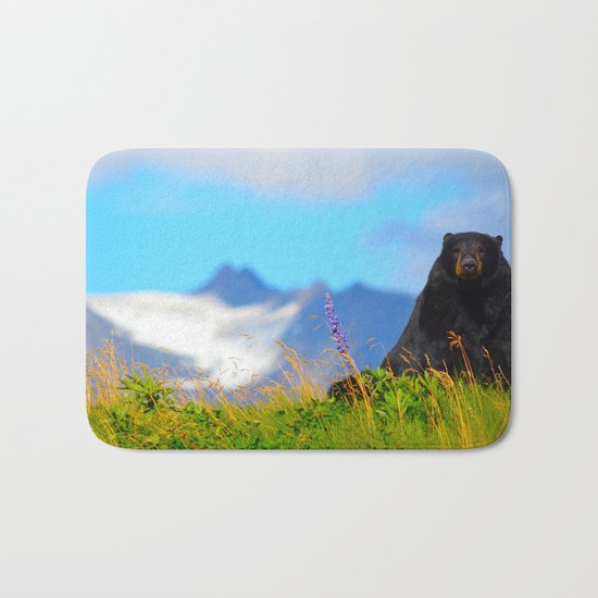 Alaskan Black Bear Bath Mat