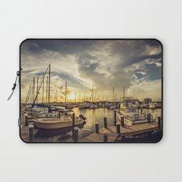 Summer Harbor Sunset Laptop Sleeve