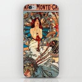 Alphonse Mucha Monaco Monte Carlo iPhone Skin