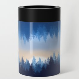 Winter Pines Reflected Can Cooler