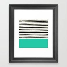 Mint x Stripes Framed Art Print