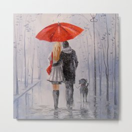 After the rain in the Park Metal Print