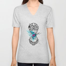 Abstract skull Unisex V-Neck