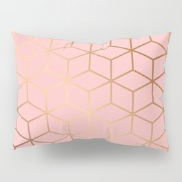 Pink and Gold Geometry 011 Pillow Sham