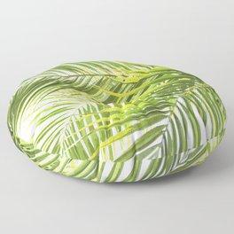 Palm leaves tropical illustration Floor Pillow