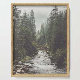 Mountain creek - Landscape and Nature Photography Serving Tray