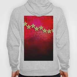 Spectacular gold flowers in red and black grunge texture Hoody