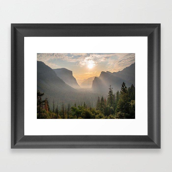 Morning Yosemite Landscape Framed Art Print