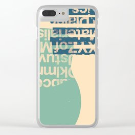 gum letter Clear iPhone Case