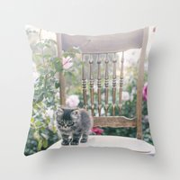 austin Throw Pillows featuring Austin by With Love & Lace...