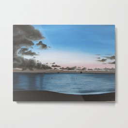 dusk on the water Metal Print