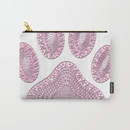 Abstract Pink Ink Dog Paw Print Carry-All Pouch