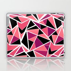 Abstract geometric pattern in black pink .Triangles . Laptop & iPad Skin