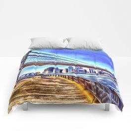 Brooklyn Bridge New York Art Comforters