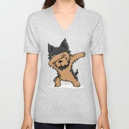 Funny Yorkshire Terrier Dabbing Unisex V-Neck