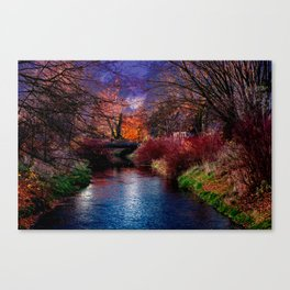 Concept Baden-Wuerttemberg : River Rottum through Laupheim Canvas Print