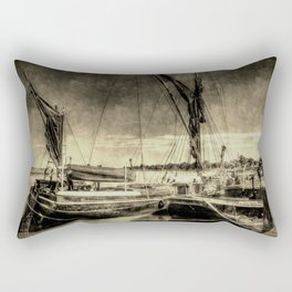 Thames Sailing Barges Vintage Rectangular Pillow