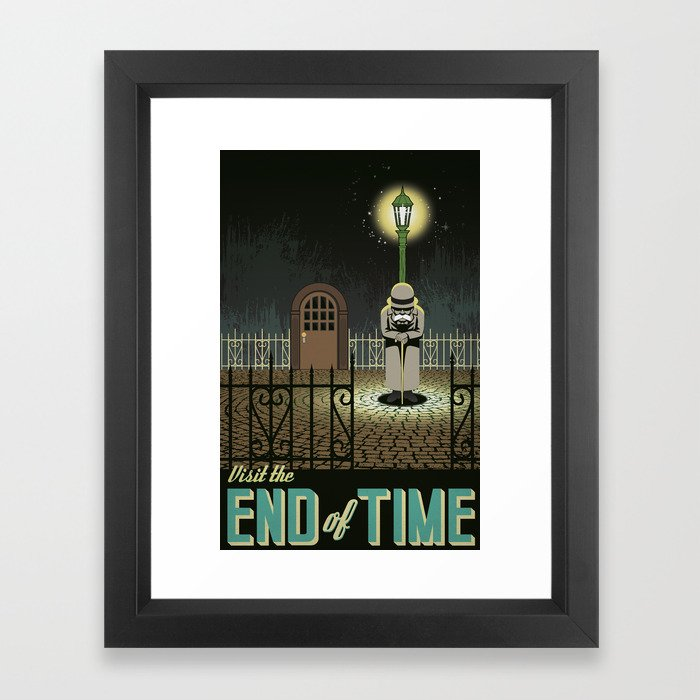Chrono Trigger End of Time Travel Poster Framed Art Print