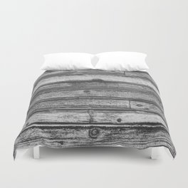 Weathered Wood Wall Duvet Cover
