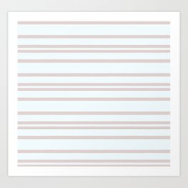 Pink Soft Stripes #HomeDecor Art Print