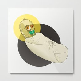 Baby C3PO Metal Print