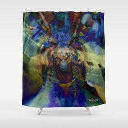 Mardi Gras Lhama Shower Curtain