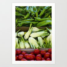 Graphic vegetables Art Print