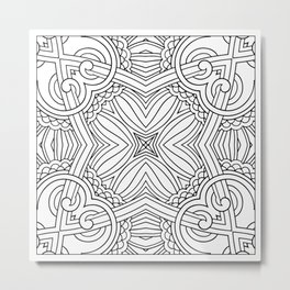 Doodle Patterns Coloring Canvas Home Decor Wall Art Canvas Print Metal Print