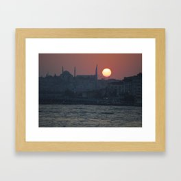 Istanbul Sun Framed Art Print