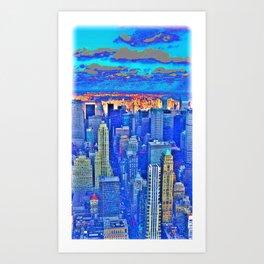 New York Blues Art Print