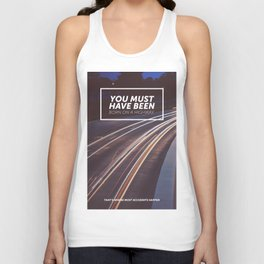 You must have been born on a highway Unisex Tank Top