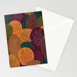 Fall and autumn leaves design Stationery Cards