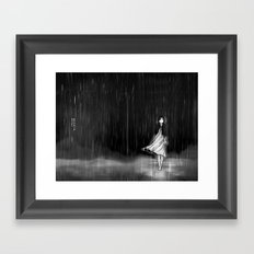 ... as the rain fell on me Framed Art Print