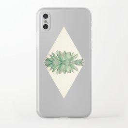 Echeveria II Clear iPhone Case